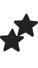 Solid Black Star Pasties