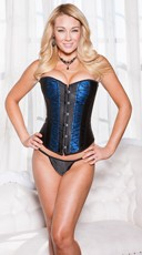 Satin and Lace Corset and Thong