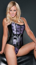 Black and Purple Halter Corset