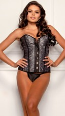 Gray Lace Sweetheart Corset