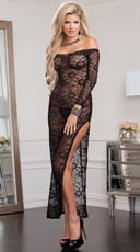 Midnight Affair Lace Gown
