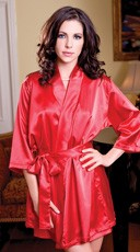 Satin Robe with Matching Sash