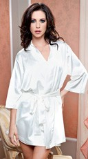 Satin Robe with Matching Sash