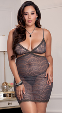Plus Size Silver Lining Lace Chemise