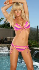 Pink and Purple Rio Stripe Bikini