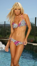 Pink And White Zoofari Bikini Bottom