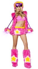 Pink Faux Fur Star Girl Set