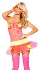 Pink and Yellow Star Skirt and Top