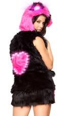 Light-Up Heart Faux Fur Vest