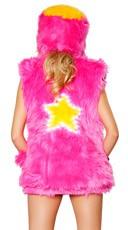 Light-Up Star Faux Fur Vest