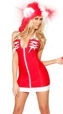 Zipper Front Athletic Dress