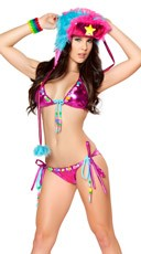 Beaded Stretch Foil Bikini