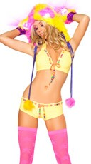 Beaded Yellow Short and Top