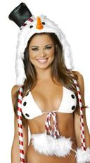 Snowman Fur Hood