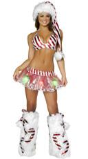 Sexy Holiday Light Up Skirt Set