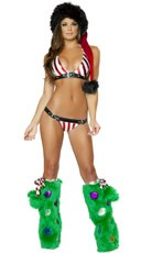 Candy Cane Buckle Bikini Set