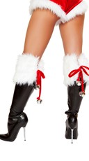 Furry Jingle Bell Boot Covers