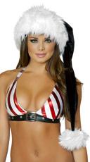 Black and White Santa Hat