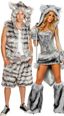 Big Bad Wolf Couples Costume Set