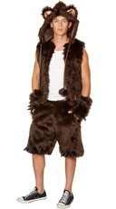 Men's Furry Brown Bear Costume
