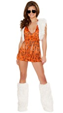 Orange Hippie Chick Costume