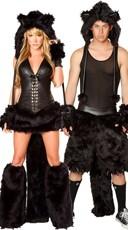 Black Cat Couples Costume