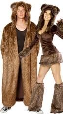 Cuddly Brown Bear Couples Costume