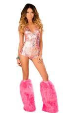 Pink Leopard Romper Set