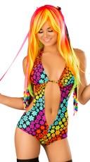 Rainbow Daisy Raver Romper
