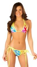 Neon Cosmos Tie Side Bikini
