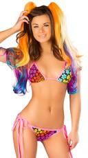 Neon Tie Side Bikini