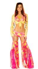 Flower Power Neon Bikini Set