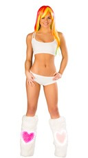 White Strappy Crop Top and Shorts Set