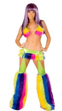 Furry Rainbow Raver Set