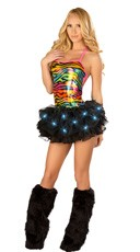 Rainbow Zebra Romper and Tutu Set