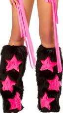 Faux Fur Star Legwarmers
