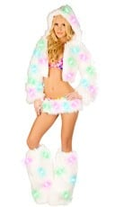 Deluxe Light Up Furry Rave Set