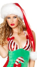 Metallic Red Santa Hat