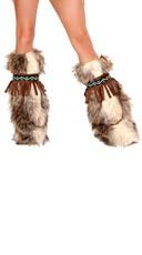 Faux Fur Eskimo Costume Legwarmers
