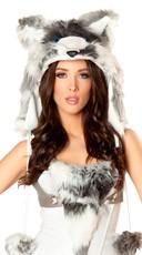 Husky Costume Hood