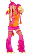 Deluxe Pink Dragon Costume