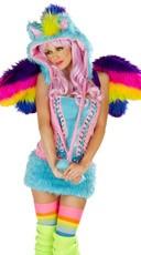 Deluxe Rainbow Pony Hood