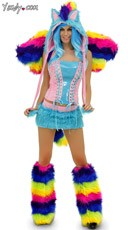 Deluxe Rainbow Pony Costume
