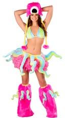 Deluxe Sexy Neon Octopus Costume