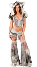 Deluxe Sexy Silver Indian Costume