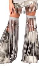 Silver Indian Beaded Fringe Legging