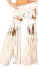 Furry White Indian Leg Warmers