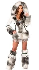 Deluxe Sexy White Eskimo Costume