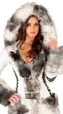 White Eskimo Hooded Coat