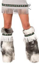 Furry Eskimo Fringe Legwarmers